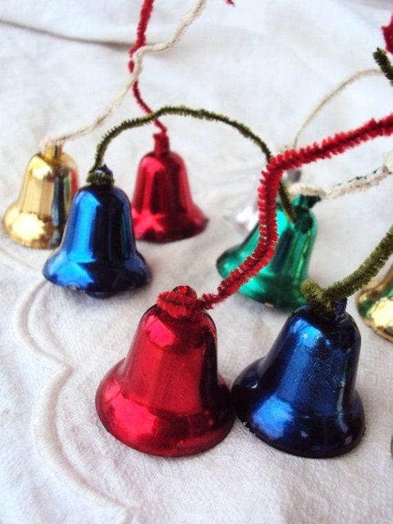 Vintage christmas bell ornament picks mid century s