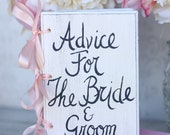 Wedding Guest Book Shabby Chic Decor Advice For The Bride and Groom (Item number 140019)