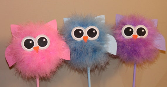 Owl centerpiece and party decoration choice of one available for Baby owl decoration