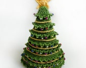 Christmas Tree Hat - 5 Sizes - PDF Crochet Pattern - Instant Download