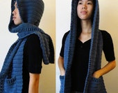 Hooded Scarf, Version 2  (3 sizes) - PDF Crochet Pattern - Instant Download