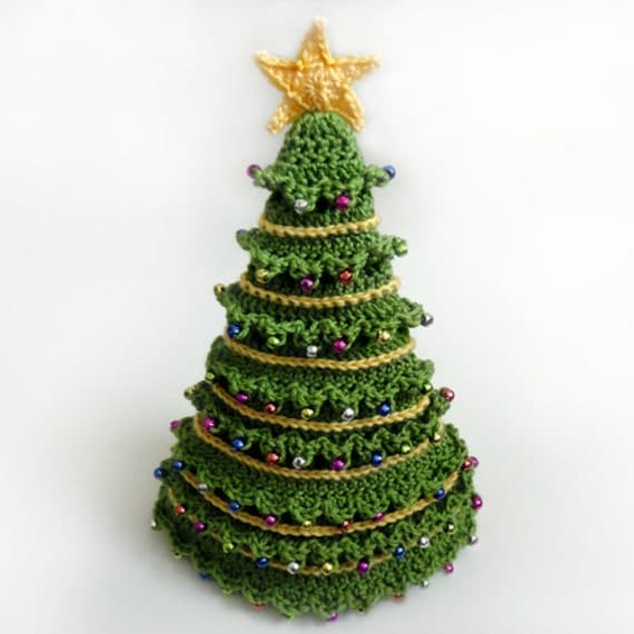 Christmas Tree Hat 5 Sizes PDF Crochet Pattern Instant