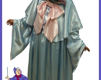 Custom Boutique Halloween Cinderella Fairy Godmother  Costume Set Adult Size