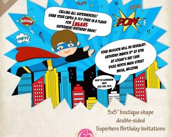 Boutique Superhero Invitations - Set of 25