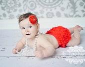 SALE RED Bloomers, Chiffon Ruffle Bum Baby Bloomer,baby bloomer,Diaper cover, Ruffled Bloomer, Bloomer, Ruffles, Newborn Bloomer, Ready to s
