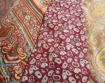 Mens Vintage Necktie Paisley set of 4 Polyester Silk