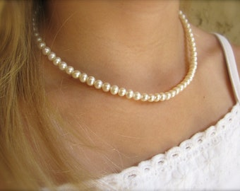 """18"""" Freshwater Pearl Necklace - Real Pearl Necklace"""