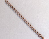 8 Closed Link Antique Copper Extension Chains -- 3 inches long