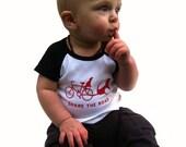 SHARE THE ROAD Infant Short Sleeve Raglan Tee (6-12 m)