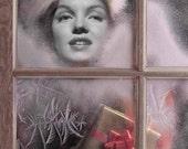 Marilyn Monroe Vintage Look Christmas Window Hollywood Reproduction Art Print (31)