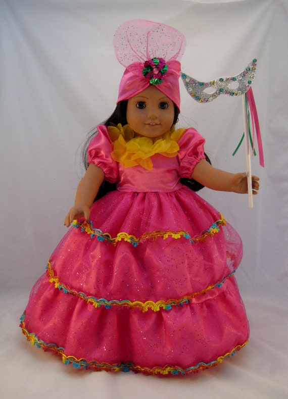 Brazilian Carnival Costume fits American Girl or other 18 inch Dolls