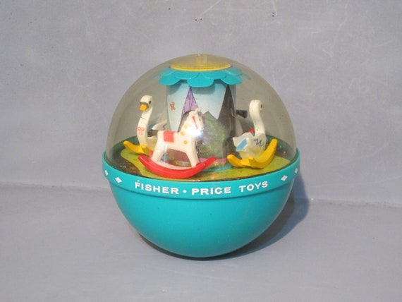 Vintage An Original Fisher Price Toy / Roly Poly Chime Ball