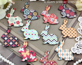 12Pcs Mini Handmade Vintage Rabbit Charms / Pendants (CWL02)