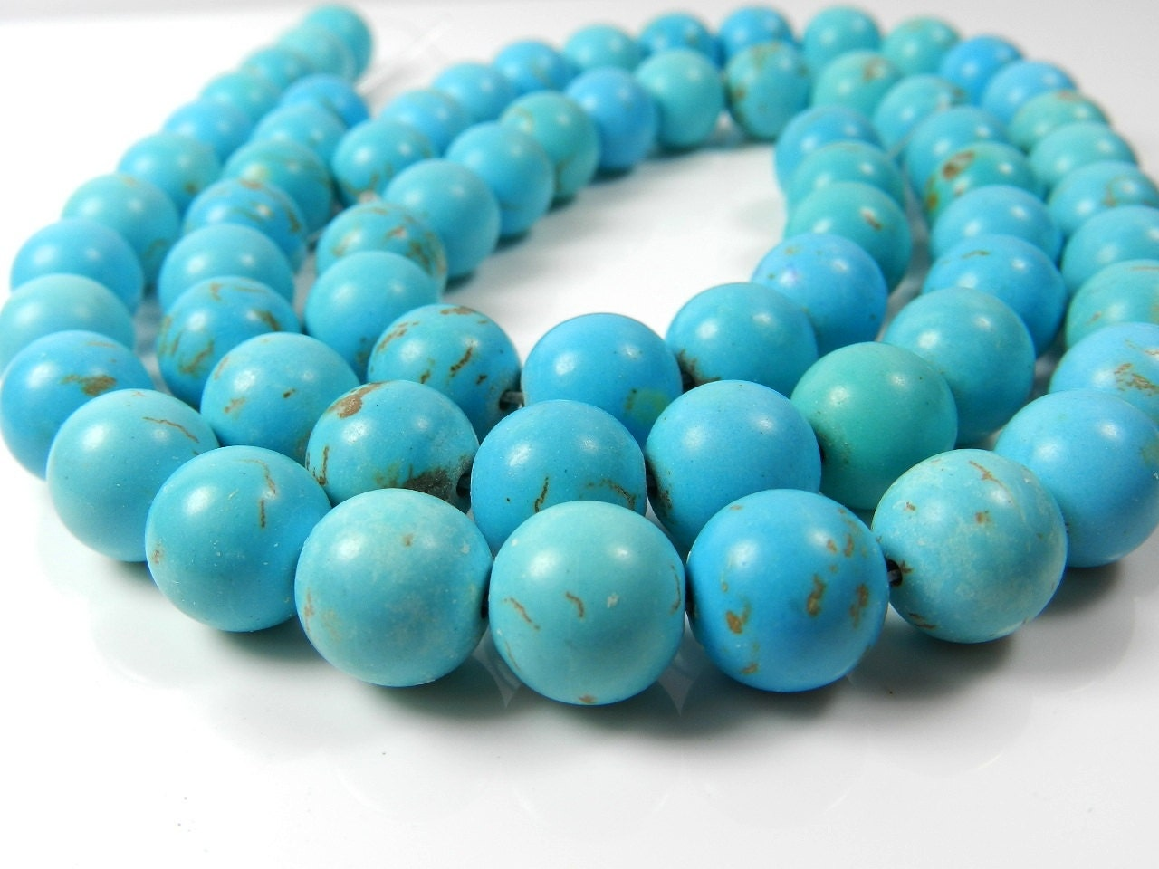 chunky turquoise beads large 12mm round turquoise beads