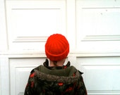 Watch Cap  - Red - Sailors Cap - Tuque - Wool blend -  Dad - Granddad - Guys- Mens - Teen - Boyfriend - Made to Order