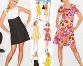 1960's Retro Dress Pattern Simplicity 3833
