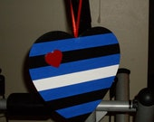 ON SALE-Leather Pride Hanging Heart