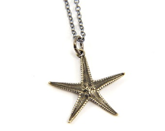 Starfish Necklace - Cast from a Real Star Fish