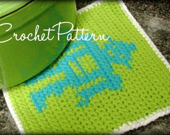 Robot potholder pattern -- crochet - PATTERN ONLY