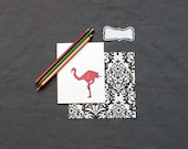 Flamingo Origami Stationery