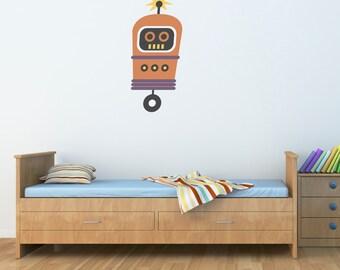 Robot Wall Decal - Boy Wall Sticker - Children Wall Decals - 3