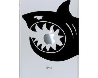 iPad Mini Decal - Shark Bite Decal - Shark Sticker for a tablet