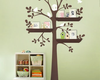 NEW - ORIGINAL Shelving Tree with Birds - LARGE  Kids Vinyl Wall Sticker Decals