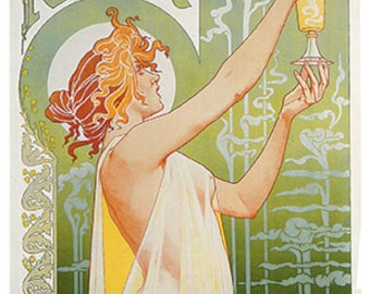 Wooden jigsaw puzzle. ART NOUVEAU WOMAN and absinthe. Private Livemont. Art Nouveau. Wood, handcut, handcrafted, collectible. Bella Puzzles.
