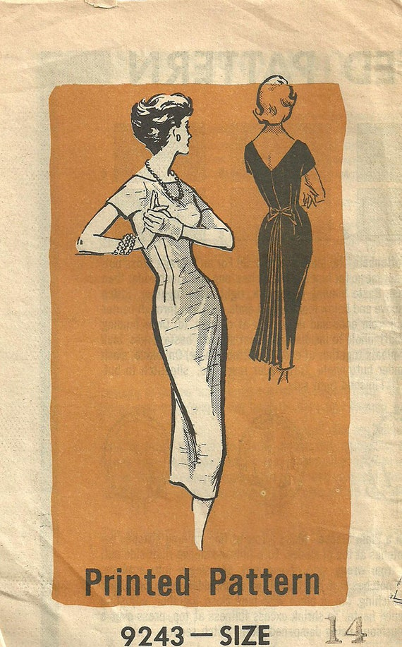 Vintage Fifties Mail Order Sewing Pattern 9243
