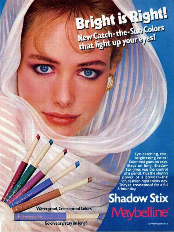 1983 Maybelline Eye Shadow Print Ad Retro Beauty Parlor
