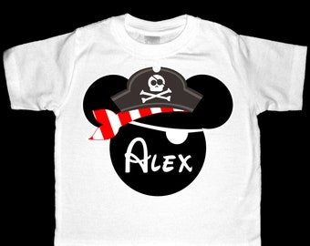 Personalized Pirate Mickey Mouse Shirt or Bodysuit - Personalized with ANY name