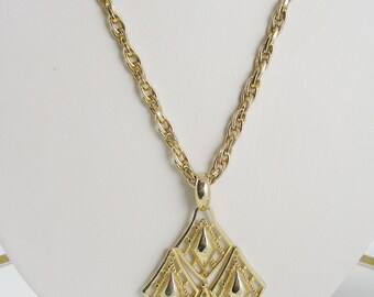 Vintage Diamond Shape Tassel Necklace
