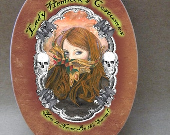 Lady Hemlock's Costumes...  Oval Tile Wall Hanging
