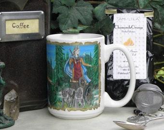 Freya Norse Goddess 15 oz Coffee Mug