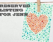 "Reserved For Jenn - ""Spotted Heart"" Art Print"