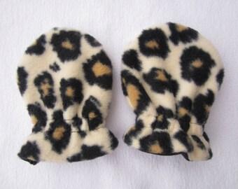 LEOPARD, Infant/Toddler Fleece Mittens