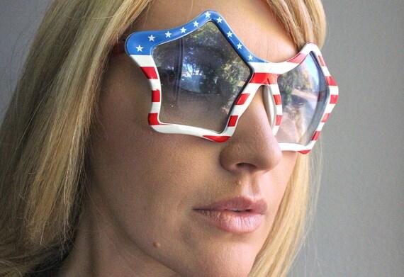 80's Oversized Star Sunglasses