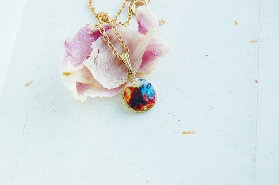 Mini Galaxy Locket Necklace - Cloud