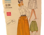 Vogue 7355 Retro Full Dirndl Vintage Skirt Sewing Pattern