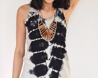 Black and Beige Canyon Tank Top