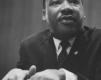 Vintage Martin Luther King image reproduction print 8 1/2 x 11