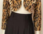 Vintage Norma Kamali Leopard Print Crop Jacket-Size Small
