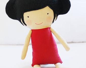 Doll Sewing Pattern Toy Cloth Doll Pattern PDF - Ruby & Mei