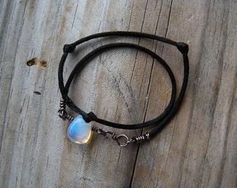 KAIRI Kingdom Hearts Bracelet Opalite Opal Wrap black cord