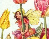 Tulip Fairy Digital Art Downloadable Printable Image Instant Download