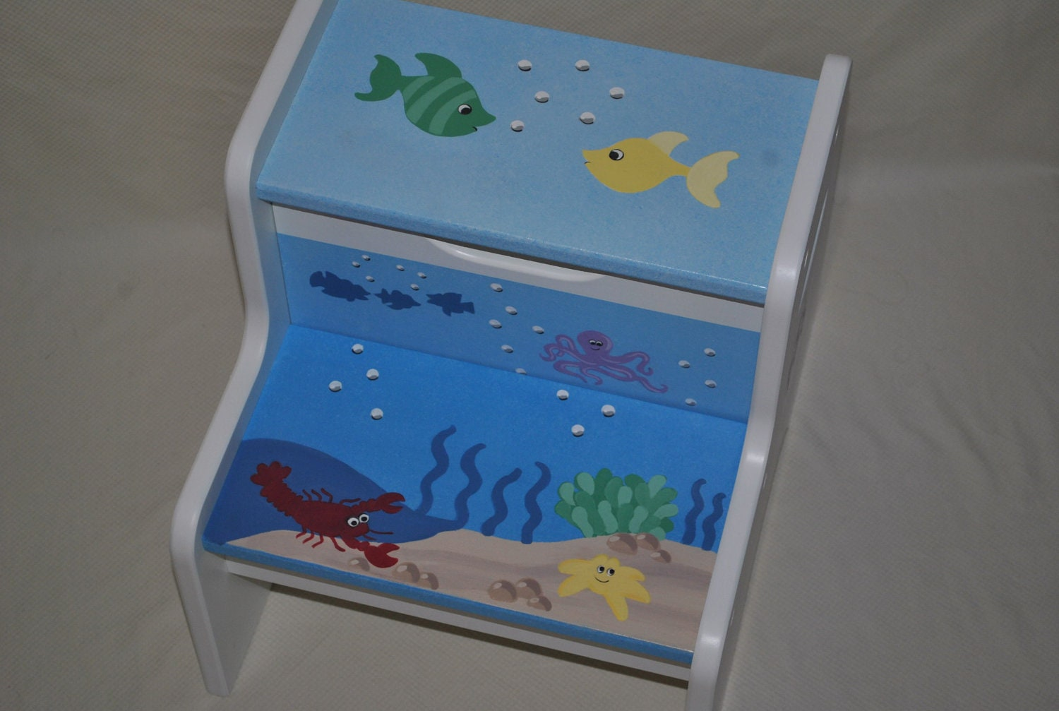 Kids Personalized 2 Step Stool Sea Creatures