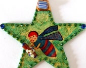 Handmade Bee Goddess Oracle Seer Wise One Ornament Bug Insect