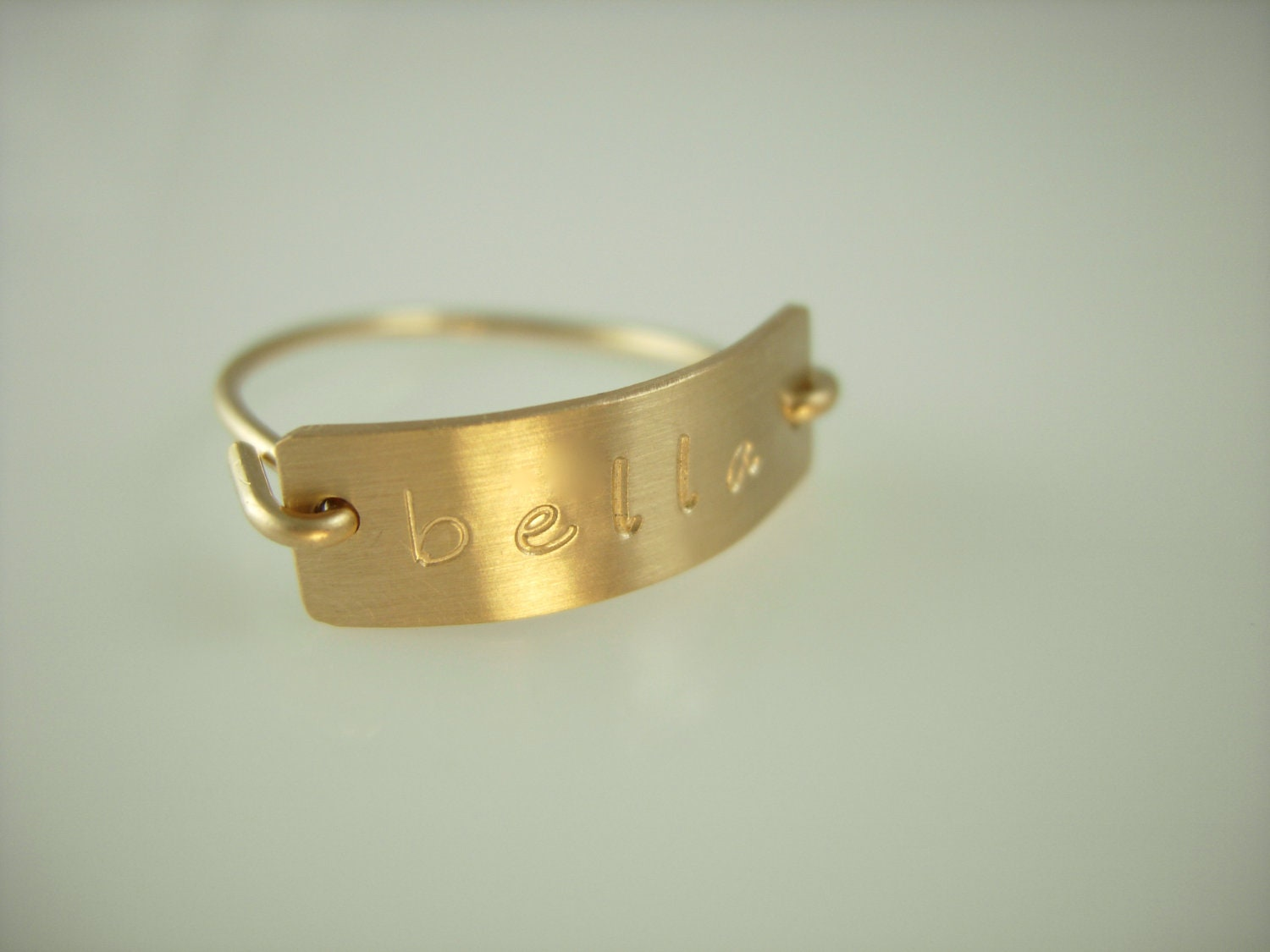 personalized initial ring engraved rings