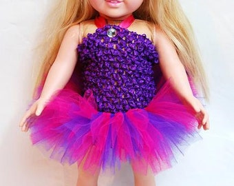 """2-Piece Shockingly Girly Tutu Outfit for 18"""" and 15"""" Dolls - Fits American Girl Dolls and My Generation Dolls"""