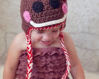 Crochet Pattern - Gingerbread Man Hat